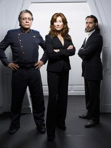 "Commander William Adama, President Laura Roslin, and Gaius Baltar will be performing a dance to ""Steam Heat,"" from The Pajama Game."