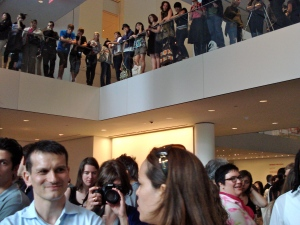 MoMA crowd from within the crowd.