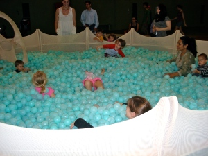 Children in the ball pit.
