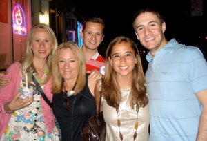 Rita with her daughters and sons-in-law.
