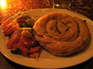 See, a spinach pie in a spiral.