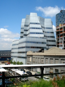 The IAC building, as seen from the High Line.