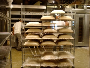 Bread baking at Amy's Bread