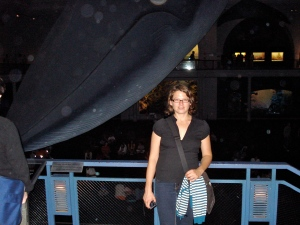 Mara and the whale.