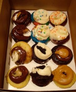 Delicious mini-cupcakes.