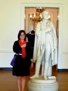 This is me with a statue of Thomas Jefferson in the Rotunda at the University of Virginia in Charlottesville.  I did not attend UVA nor do a I have an unusual fondness for President Jefferson, I just like this picture of me.